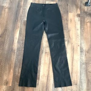 BCBGMaxAzria  Lea 229 Black Leather Pants sz 4